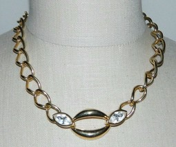 Vintage SAL Swarovski Gold Tone Clear Crystal Rhinestone Toggle Necklace... - $49.50