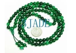 "32"" Green Jade/Jadeite 108 Meditation Prayer Beads Mala   image 1"