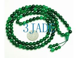 "32"" Green Jade/Jadeite 108 Meditation Prayer Beads Mala   image 3"