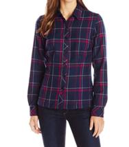 Small 4-6 Icebreaker Women's Laurel Woven Wool Flannel Shirt Long Sleeve