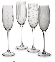 NEW Mikasa® Cheers 8 oz.Wedding Champagne Toasting Flutes (Set of 4) Gla... - $52.36