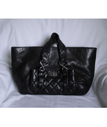 AUTHENTIC Black Chanel Lambskin 8 knots tote - $1,488.00