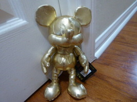 """Disney The True Original Mickey Mouse 11"""" Gold Plush 90th Anniversary Ne... - $46.75"""