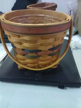 Longaberger Shades of Autumn Maple Leaf Basket with Plastic Protector - 1996 - $18.35