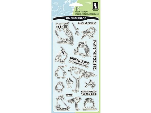 Inkadinkado Bird Assortment Clear Stamp Set #97729