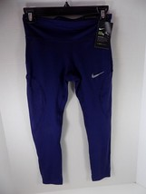 Nike Womens Cropped Running Leggings Ventilated Blue Size XS - NWT - $28.03