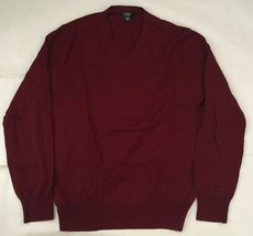 J. Crew Mens Merino Wool Red V-neck Sweater, Sz M - $24.99