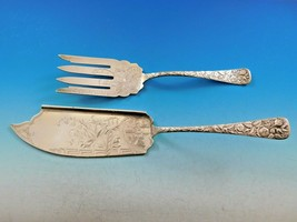 Arlington by Towle Sterling Silver Fish Serving Set w/ Japanese Castle BC Floral - $1,309.00