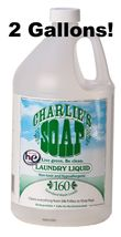 CHARLIE'S SOAP LIQUID LAUNDRY DETERGENT 320 LOADS! 2 GALLONS - FREE SHIP... - $50.48