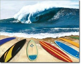 New Westmoreland - Wait Your Turn Surfing Decorative Metal Tin Sign - $9.41