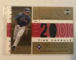 Alex Rodriguez Card /99 Upper Deck Gold Time Capsule Jersey Patch SP 2002 - $47.50