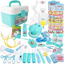 MCFANCE Toy Doctor Kits 48Pcs Pretend Play Doctor Kit Toys Stethoscope Medical K image 9
