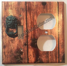 Rustic Barn Wood Door image Light Switch Outlet Wall Cover Plate Home Decor image 9