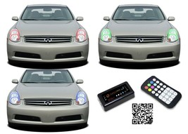 for Infiniti G35 05-06 RGB Multi Color Bluetooth LED Halo kit for Headli... - $165.13