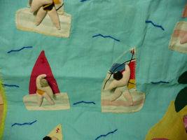 Vintage Peru Folk Art Wall Hanging Wind Surfing 1980's image 3