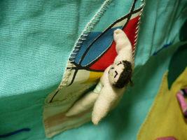 Vintage Peru Folk Art Wall Hanging Wind Surfing 1980's image 6