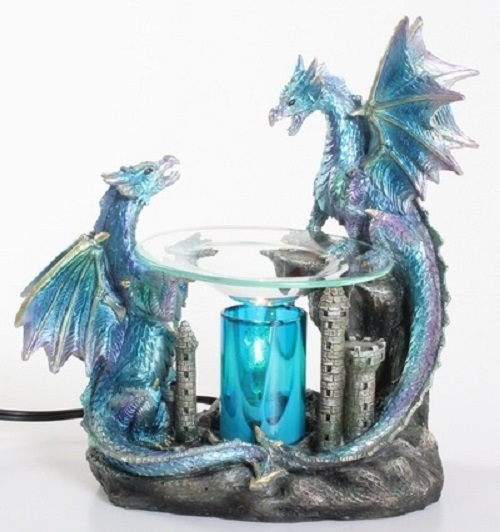 Blue Dragon Oil/Tart Warmer - compatible with Scentsy and Yankee Candle wax