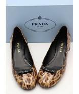 NIB Prada Leopard Brown Black Bow Patent Leather Pumps Heels 8 38 - $392.52