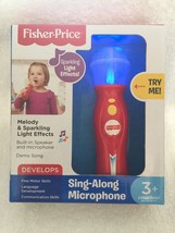 Fisher-Price Sing-Along Microphone With Melody and Sparkling Light Effects! - $19.77