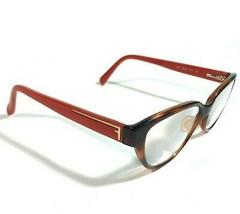 Fendi Brown Tortoise Red Full Rimmed Cats Eye Eyeglass Frames F1035 214 135 - $56.10