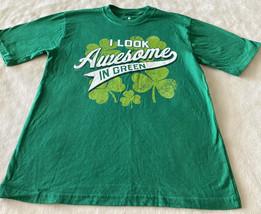 Target Boys I LOOK AWESOME IN GREEN Shamrock Short Sleeve Shirt 10-12 - $9.28