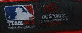 OC Sports Official License of MLB OSFM Style 808 Bright Cherry Red Adjustable image 6