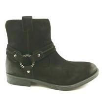 Earth Womens Ash Everglade Suede Side Zip Ankle Boots Black Block Heel 9W - $39.59
