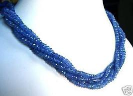 """GENUINE AFRICAN 4MM FACETED TANZANITE NECKLACE 18"""" - $150.00"""