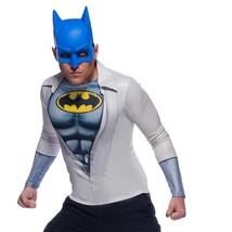 Batman Costume Shirt Mask Adult Halloween Set White - $34.98