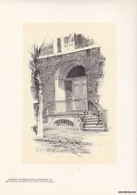 Doorway Fairfax House Alexandria Print O.R. Egg... - $15.99