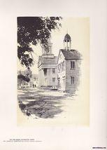 Church Green Plymouth Ct Vintage Print O.R. Eggers 1922 - $15.99