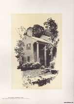 Old House Litchfield, Ct Vintage Print O.R. Eggers 1922 - $15.99