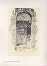 Doorway Old Town Hall, Hartford Print O.R. Eggers 1922 - $15.99