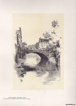 Street Bridge, Hartford Vintage Print O.R. Eggers 1922 - $15.99