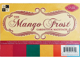 """DCWV The Mango Frost Cardstock Matstack, 4.5"""" x 6.5"""", 72 Sheets #MS-003-00063"""