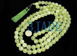 "63"" Tibetan 108 Jade Meditation Yoga Prayer Beads Mala  image 2"