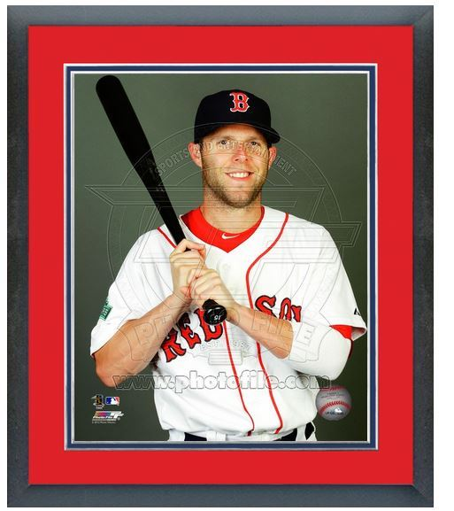 "11""x14"" Framed & Matted Dustin Pedroia Red Sox - Studio Photo Pluses"
