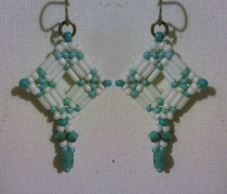 Beaded drop earrings - $8.00