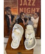 Paolo Linea women's Shoes Heel Open Toe Size 5 White - $14.62