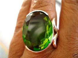 23X18MM LONG GORGEOUS FILIGREE FINE PERIDOT RING avlb - $89.00