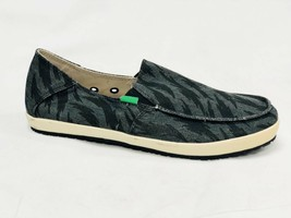 Sanuk Men Casa Funk Black Tigerbolt Slip On Loafer Shoe Sidewalk Surfer SMF10959 - $39.99