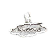 Sterling Silver Island Of Nassau Map CHARM/PENDANT - $15.88