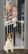 "35""-39"" XTall White Auto-Close Adjustable Child, Baby & Pet Safety Gate - $139.99"
