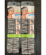 Set of 2 -Scunci Everyday & Active Multi-Magic Headwrap-New Gray/White - $7.66