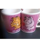 GARFIELD & ARLENE TOGETHER FOREVER COFFEE MUGS lot of 2 VINTAGE  - $11.30