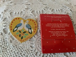 Avon The Twelve Days of Christmas Two Turtle Doves Ornament NOS - $6.78