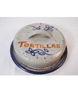 Floral Flower Print Stoneware Covered Tortilla Warmer Pancake Tortillera... - $24.74