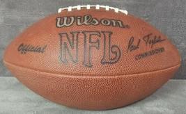 Vintage Wilson Official NFL Paul Tagliabu Leather Football USA Signed Mark Pike - $74.99