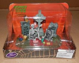 Halloween Spooky Town Graveyard Picnic Lemax #63263 RIP Skeletons NIB 117P - $19.49