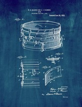 Drum Patent Print - Midnight Blue - $7.95+